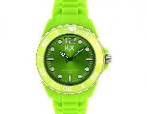 OROLOGIO H2X SV382UV1 REEF UNISEX VERDE GREEN COLOUR ITALIAN 50 WR WATCH MAN