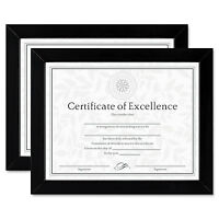Dax Document/certificate Frames Wood 8 1/2 X 11 Black Set Of Two N15832 on Sale