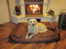 Hundesofa Hundebett Hundekorb Braun 120x100x25 cm XXL