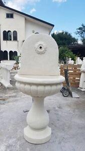 Fontana A Muro Da Parete Da Giardino Esterno Lavandino In Cemento Marmo Pietra Ebay