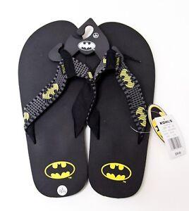 Batman mens Large 10/11 black flip flops