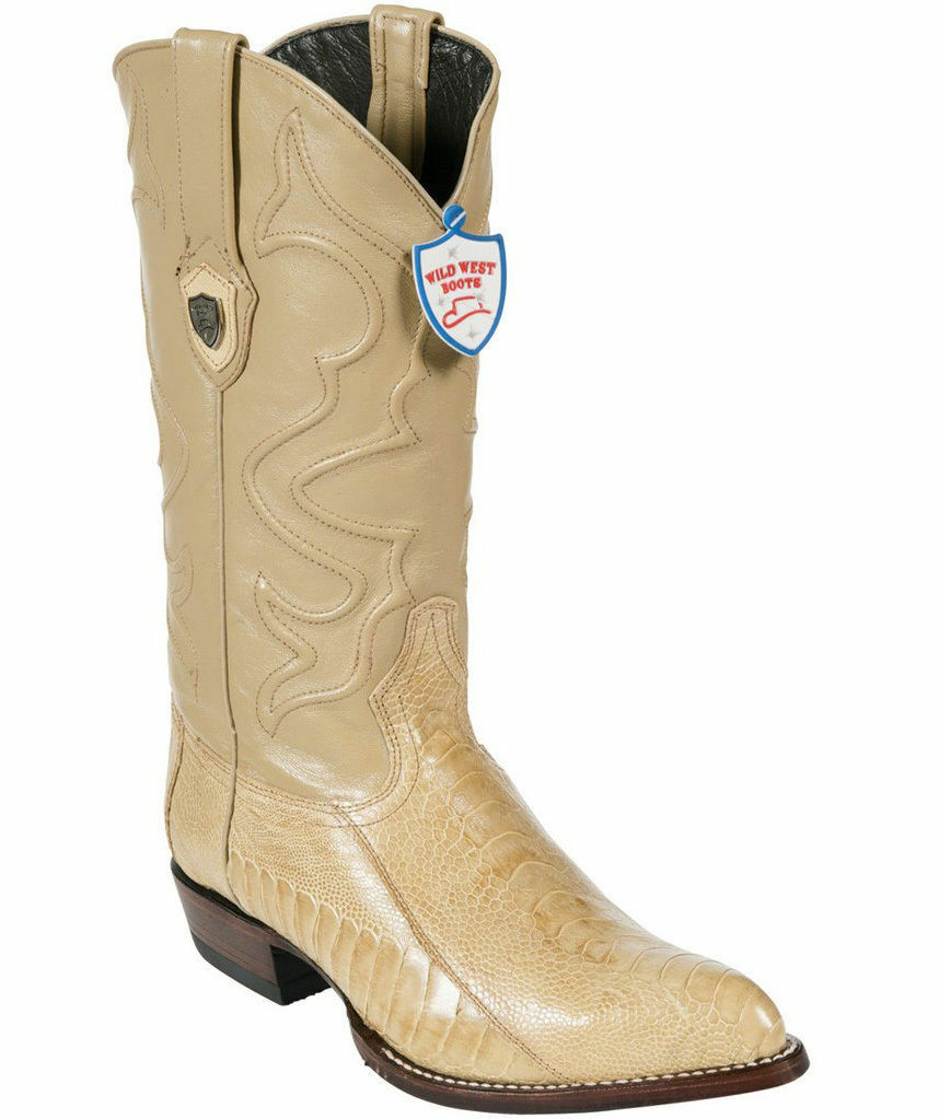 Wild West Genuine ORYX Ostrich Leg Cowboy Western Stivali J J J Toe Handmade EE+ 54e82d