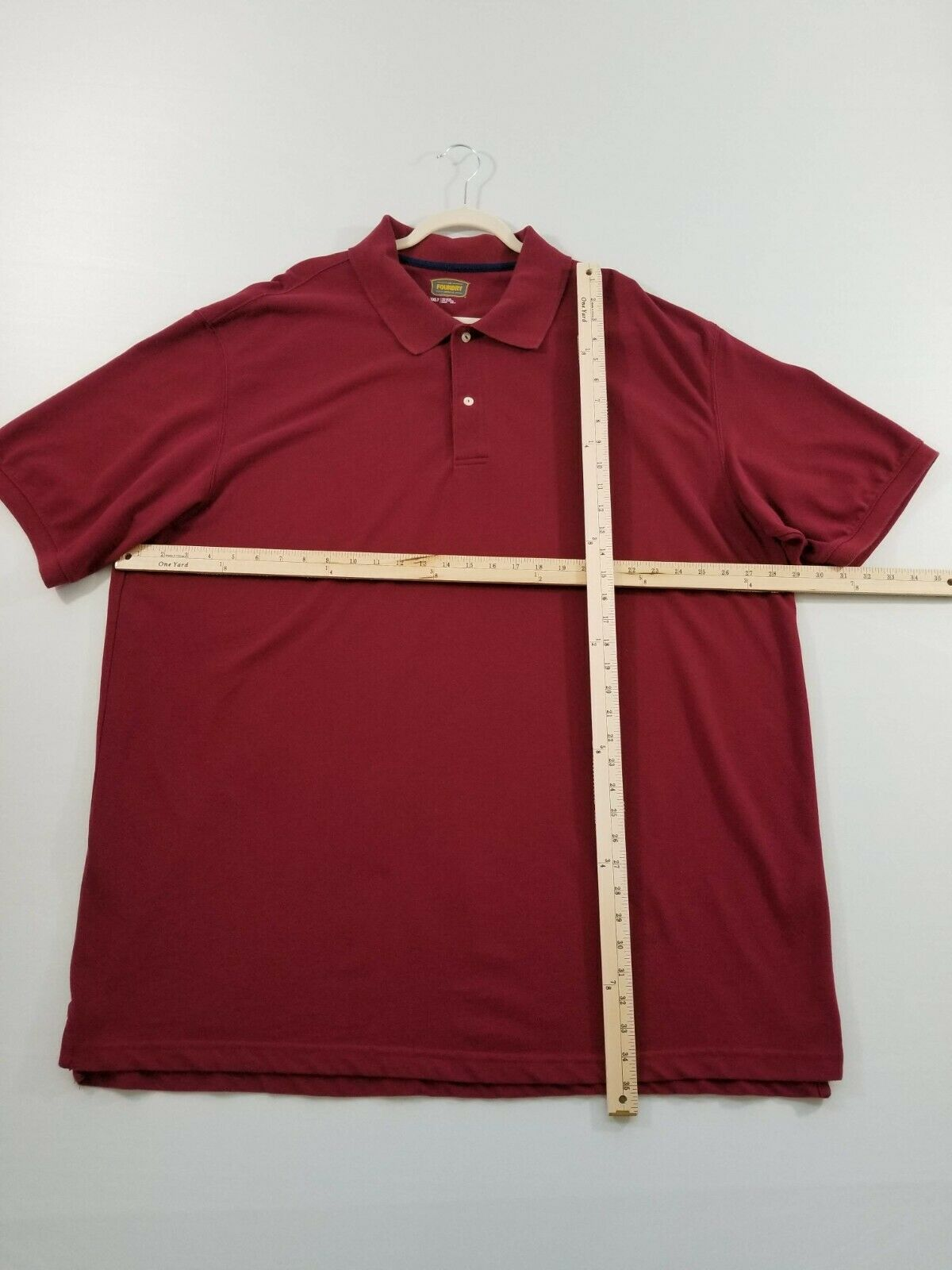 Foundry Men's Polo Shirt 3XLT Tall Red Casual Pop… - image 6