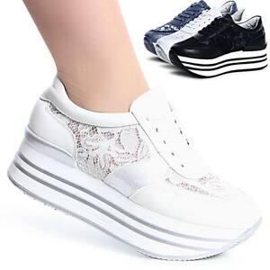 Damas-plataforma-cortos-zapato-bajo-zapatillas-de-deporte-transparente-de-cuna-trendy