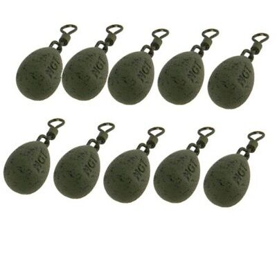 10 X NGT GREEN COATED CARP FISHING BACK LEADS 1oz or 1.5oz WEIGHTS CARP LEADS