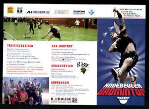 Andreas Autogrammkarte Original Signiert Badminton + G 20013
