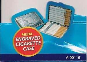 Metal-Engraved-Cigarette-Case-Holds-16-Cigaretes-Silver-Design-cigerette-case