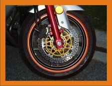 "1/4"" Orange Reflective Motorcycle Motobike Wheel Rim Pin Stripe TAPE STICKER 6mm"