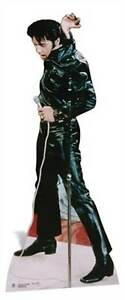 Elvis-Presley-black-leather-LIFESIZE-CARDBOARD-CUTOUT-standee-standup-The-King