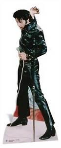 Elvis-Presley-black-leather-LIFESIZE-CARDBOARD-CUTOUT-standee-standup-The-King