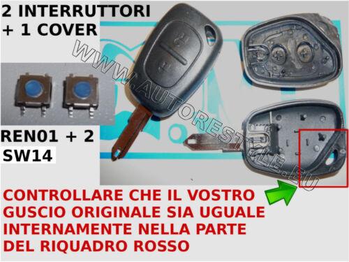 2 swItch Guscio scocca chiave RENAULT Master Megane Twingo Trafic Opel Vivaro
