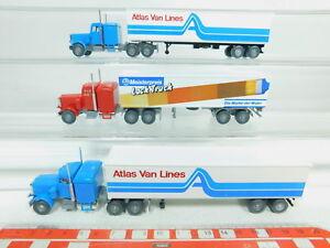 Bo757-0-5-3x-Wiking-h0-1-87-us-camion-Peterbilt-atlas-Van-Lines-charol-Truck-Neuw