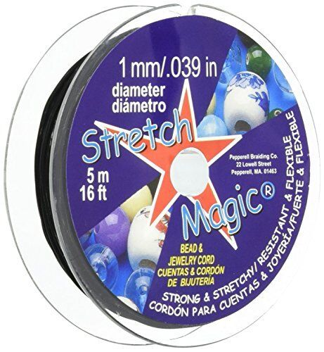 Pepperell Stretch 0.8mm Magic Bead and Jewelry Cord Clear 5m
