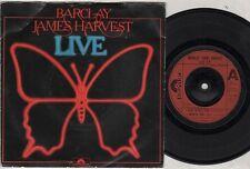 "BARCLAY JAMES HARVEST Live  7"" Ps, 3 Tracks, Rock N Roll Star/Madicine Man Part"