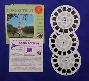 3 VIEW MASTER REELS + outer wallet Sawyers Connecticut USA #008
