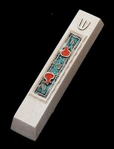 Mezuzah Made in Jerusalem Cast Stone By Shulamit Kanter Art Design
