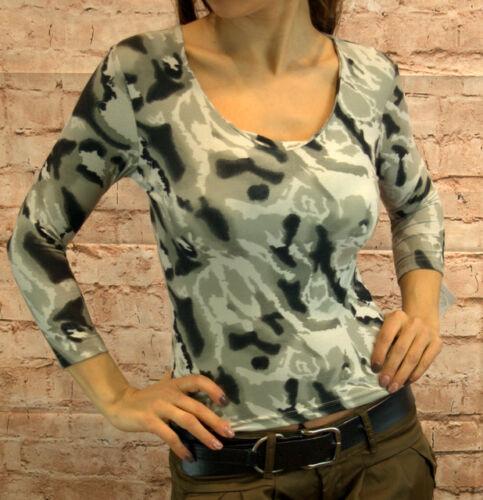 Bluse Oberteil Damen Hemd Sommerbluse Sommer T-Shirt 3//4 Arm bordeaux grau