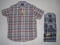 Mens The Ivy Brand Various Plaid 100% Cotton Short Sleeve Shirt M L
