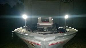 48W Bowfishing Light - Clamp On Mount for Boats, Canoe, Kayak 12V - CarpLite