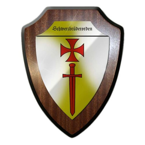 Wappenschild Schwertbrüderorden Ritter-Orden Mittelalter Brüder #24326