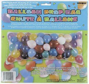 """Ballon Drop Net Sac-fête De Mariage Baptême Décoration 80"""" X 36""""-afficher Le Titre D'origine ModéLisation Durable"""