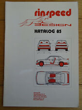 Rinspeed Accessories brochure 1985 German & French text, wheels, spoilers etc