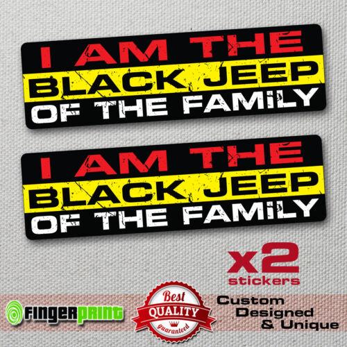BLACK JEEP FAMILY STICKERS DECAL VINYL BUMPER CARS JDM 4x4 TRUCK WINDOW OFFROAD