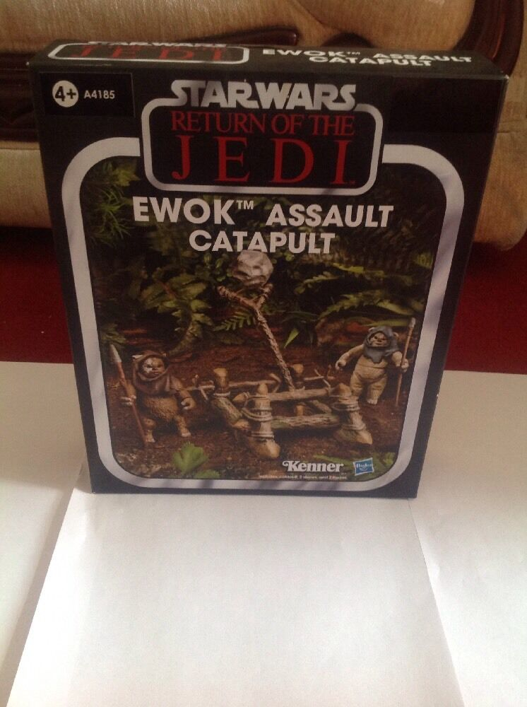 Star wars das vintage - kollektion  ewok - angriff katapult (rotj)