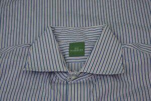 Sid-Mashburn-White-Blue-Striped-Spread-Collar-Long-Sleeve-Dress-Shirt-Sz-16