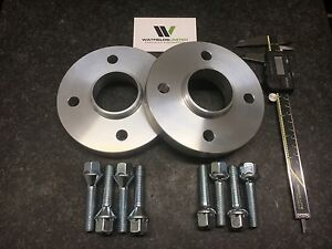 Pair 4x100 Hubcentric Spacers, 25mm Wide 57.1CB 8 Wheel Bolts VW AUDI UK Made