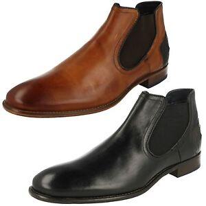 Leather Bugatti Boot Chelsea On Bettino Black Men's Slip SqppT