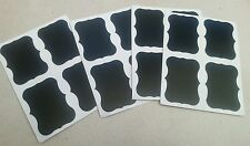 36 x Blackboard/Chalkboard Frame Stickers/Labels Erasable Parties