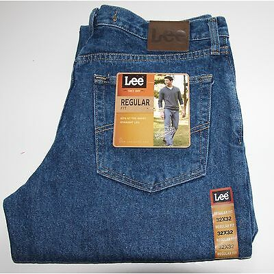 New LEE REGULAR FIT STRAIGHT LEG JEANS Men`s All sizes