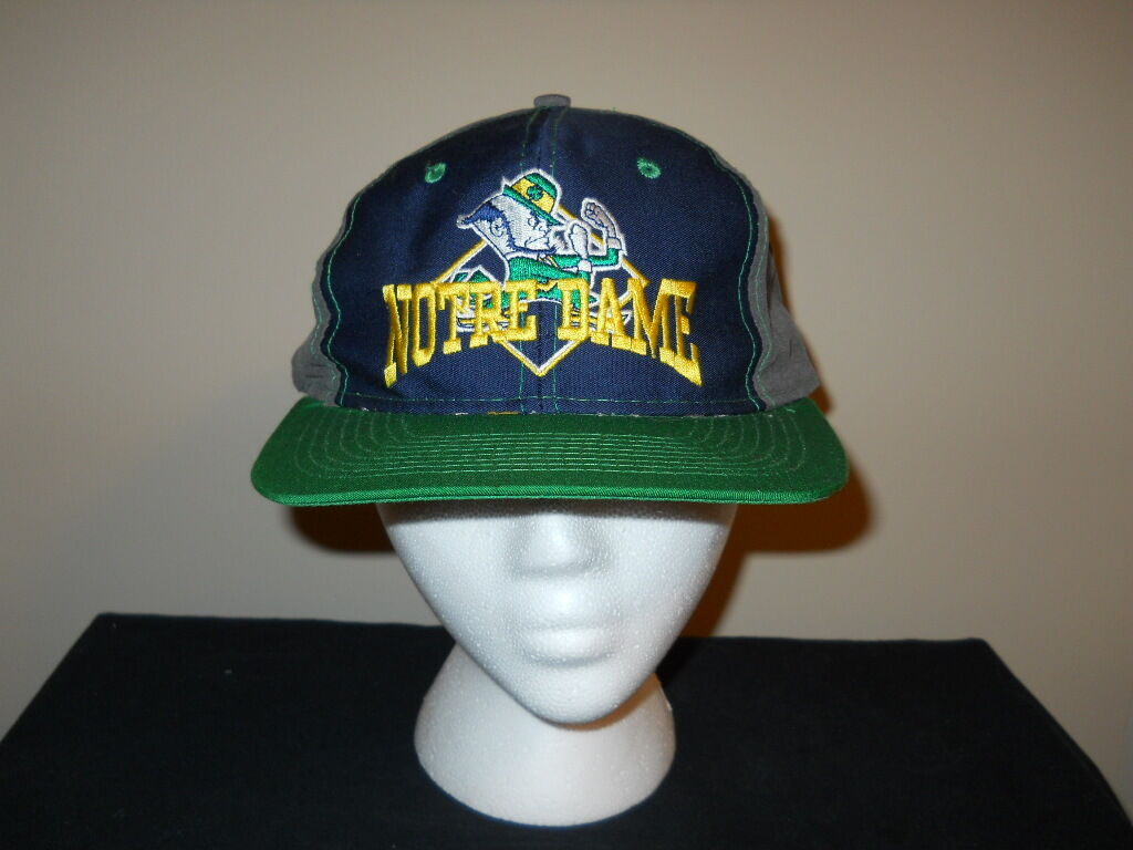 VTG-Notre Dame Game Fighting Irish  The Game Dame  big logo snapback hat -split barsku 011dbb