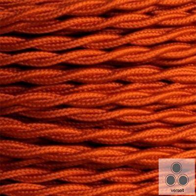 meterware Elektromaterial Business & Industrie Vornehm Textilkabel Stoffkabel Stromkabel Orange 3 X 0,75 Mm² Verseilt