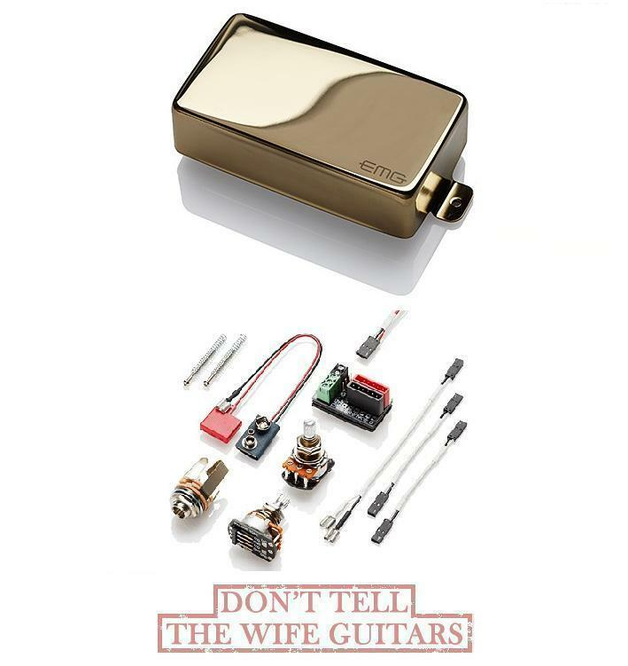 EMG H Gold ACTIVE HUMBUCKER GrößeD SINGLE COIL PICKUP (FREE WORLDWIDE SHIPPING)