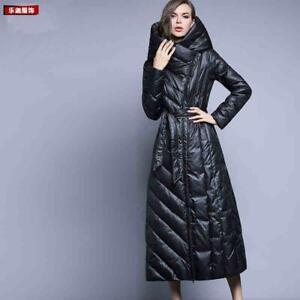 Women-Warm-Duck-Down-Parka-Loose-Outwear-Hooded-Full-Length-Coat-Long-Jacket