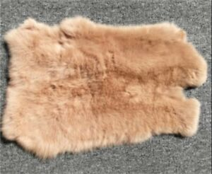 1PC Genuine Naturally Rabbit fur skin tanned Leather Hides craft Gray Pelts New