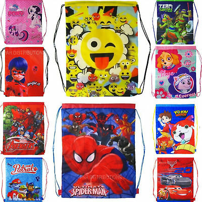 Spider-Man GILRS BOYS KIDS CHILDRENS SCHOOL PE GYM SHOE SPORTS BAG BACKPACK SWIM