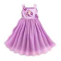 Disney Store Gorgeous Rapunzel Party Dress Layered Tulle Silken Underskirt