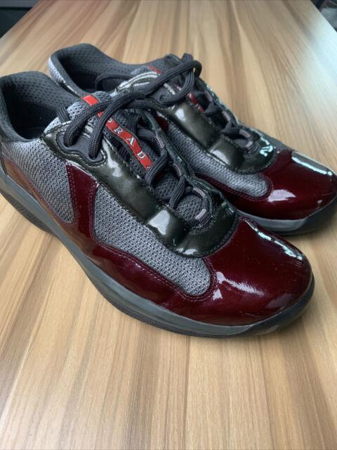 prada burgundy shoes