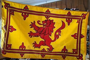 Scotland Lion Rampant Flag Outdoor Durable All Weather Nylon 3 x 5' USA made