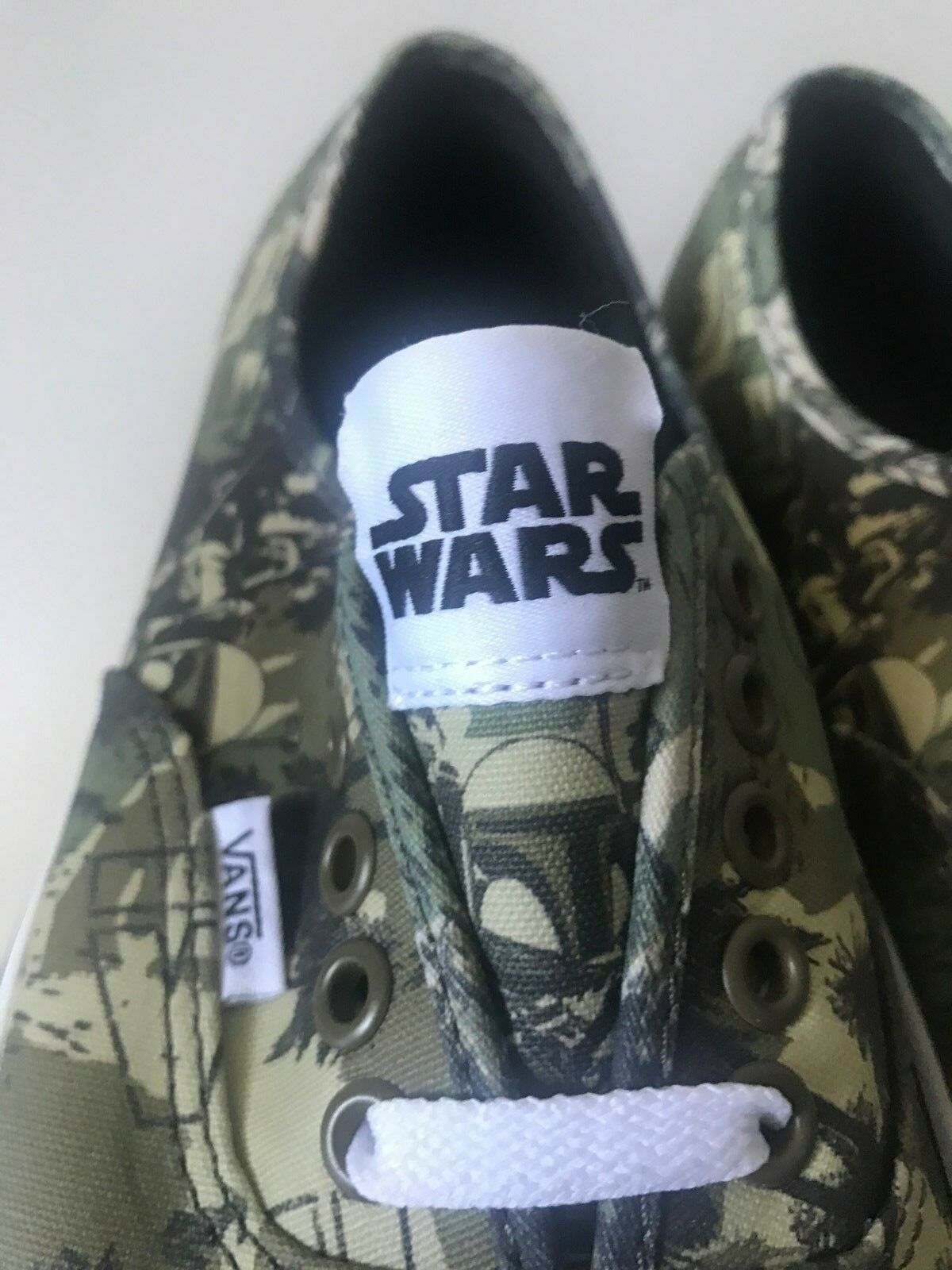 VANS STAR STAR STAR WARS AUTHENTIC BOBA FETT CAMO 8-13 NEW HOPE  SYNDICATE REPEAT 79879b