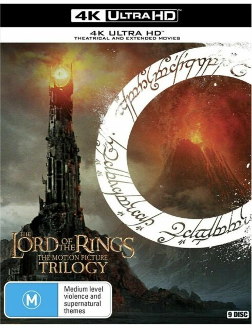 The Lord Of The Rings Trilogy 4K Ultra HD Extended Movies BRAND NEW Region B