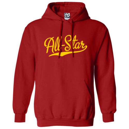 All-Star Script /& Tail HOODIE Hooded Sports Team All Star Sweatshirt All Color