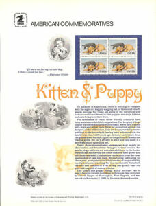 #178 13c Kitten and Puppy #2025 USPS Commemorative Stamp Panel