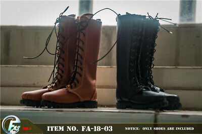 """FASToys 1//6 Male Leather Combat Shoes Boots Model Toy for 12/"""" Action Figure Body"""