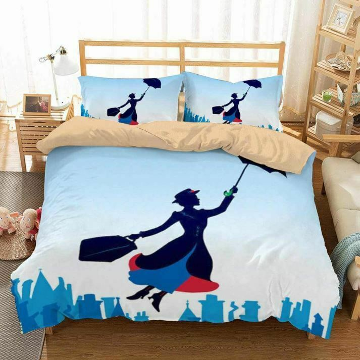 MARY POPPINS DUVET COVER 2 PILLOWCASES MARVEL TWIN FULL QUEEN KING