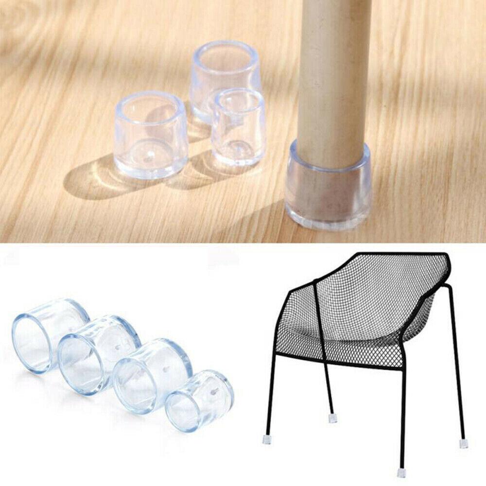 """Clear Chair Leg Cap Pad Feet Cover Furniture Floor Protector 1/""""x1/"""" 25x25mm"""