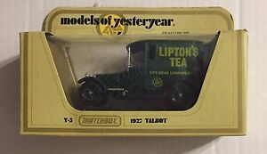 MATCHBOX-1978-LESNEY-ENGLAND-034-MODELS-OF-YESTERYEAR-034-1927-TALBOT-LIPTON-039-S-TEA